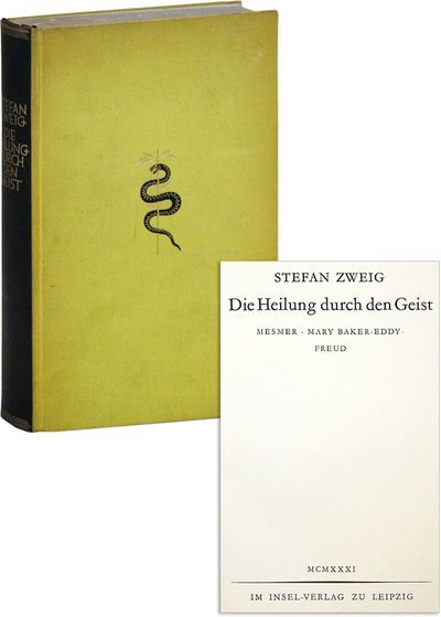 Leipzig: Insel Verlag, 1931. First Edition. Hardcover. First printing. Octavo. Publishers black-and-...