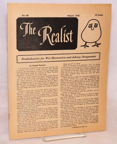 New York: The Realist Association, 1968. 23p., wraps, paper lightly browned, 8.5x11 inches. Cover ar...