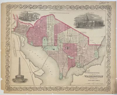 New York: J.H. Colton & Co, 1870. unbound. Map. Engraving with original hand coloring. Image measure...