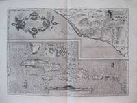 "Culiacana Provincia; Cuba, et Spagniola; "" Hispaniolae, Cubae, Aliarumque Insularum Circumiacente, Delineato""  with ""Culicanae .Americae Descriptio"