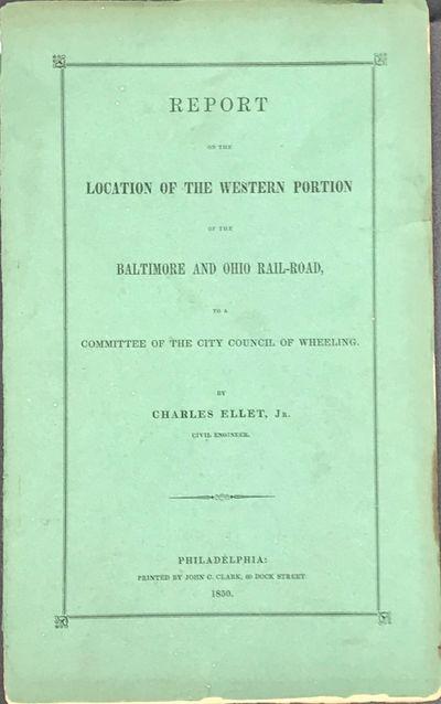 Philadelphia: Printed by John C. Clark, 1850. 8vo. 87pp. Original printed green wrappers (spine part...