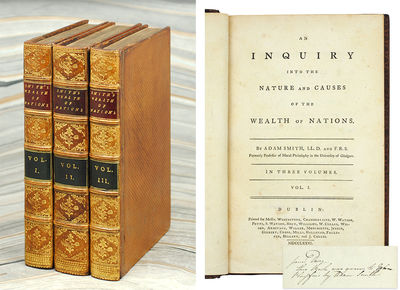 Dublin: Printed for Messrs. Whitestone, Chamberlaine, Watson, et al., 1776. 3 vols., 8vo, , -391; -5...