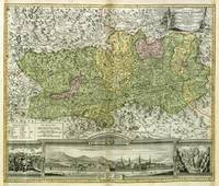 Colored Copper Engraved Map of Carinthia Duchy