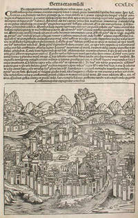 Liber chronicarum- Nuremberg Chronicle, an individual page from the Chronicle featuring Constantinopolis or The Siege of Constantinople in the Year 1453, Plate No. CCXLIX