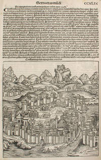 image of The Siege of Constantinople in the Year 1453, from the Nuremberg Chronicle.  Woodblock