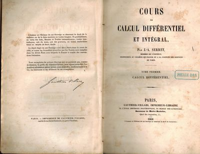 Paris: Gauthier- Villars, 1868. Both volumes Very Good in marbled paper boards with cloth spines, pr...