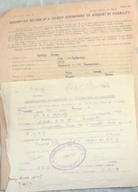 image of WORLD WAR I: There are 2 discharge forms - (One Amended Date 1916 and a Certificate of Service, Dated 1928. For Austin Moran