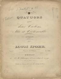 [Op. 82, nos. 1-3]. Trois Quatuors pour deux Violons, Alto et Violoncelle... Oeuv. 82. No. I...[II...3]. Prix 1 2/3 Rthlr. [Parts]