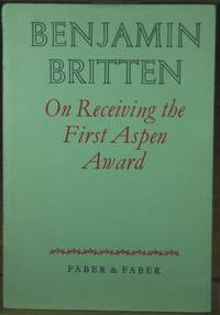 On Receiving the First Aspen Award