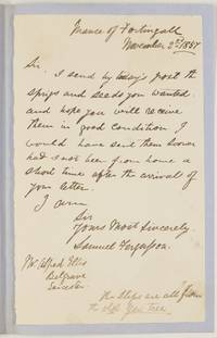 Group of 4 Autograph Letter Signed to Alfred Ellis, (Revd. Samuel, Minister of Fortingall)