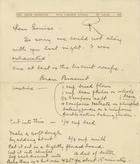 [One page autograph letter signed.] by  Irma [Manuscript - ALS]; Rombauer  - Signed  - 1940  - from Rabelais - Fine Books on Food & Drink (SKU: 2180)