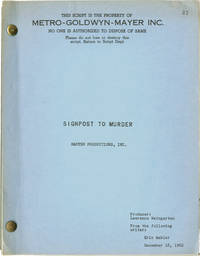 Signpost to Murder (Original screenplay for the 1964 film)