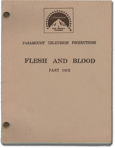 Hollywood: Paramount Pictures, 1978. Final Draft script for the 1979 television film. Based on the n...