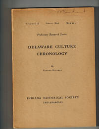 image of Delaware Culture Chronology; Prehistory Research Series, Volume III, Number 1