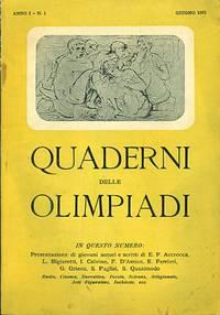 Quaderni delle olimpiadi. Anno I - N. 1. Giugno 1951