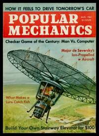 POPULAR MECHANICS - Volume 122, number 2 - August 1964: Checker Game of the Century - Man vs Computer