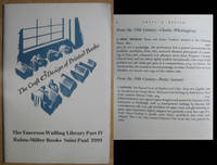 The Craft & Design of Printed Books: The Emerson Wulling Library Part IV