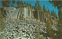 Devils Postpile, California 1960s unused Postcard