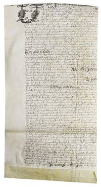 Manuscript indenture of Thomas Danyell