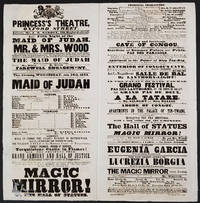 """""""The Magic Mirror! Or, the Hall of Statues"""".  Theatre broadsheet"""