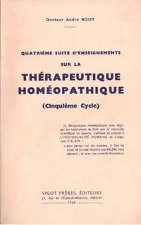 Quatrième suite d'enseignements sur la thérapeutique homoeopathique (...