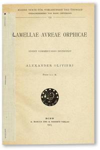 Lamellae Aureae Orphicae. Edidit Commentario Instruxit Alexander Olivieri
