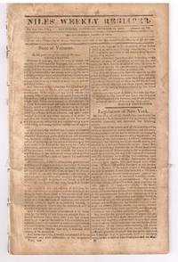 Nile Register: Proclamation from Vt Governor Martin Chittenden regarding the British invasion during the War of 1812 & protection of our common country, and our liberty