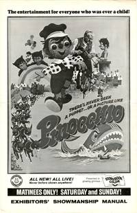 Archive of 3 pressbooks for foreign children's films made between 1957-1967, featuring Santa Claus, Pinocchio, and Tom Thumb