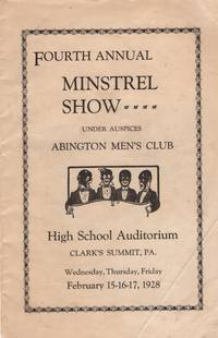 1928 Fourth Annual Minstrel Show under auspices Abington Men's Club