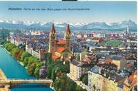Germany – Munich, München, Partie an der Isar. Blick gegen die Maximilianskirche – early...