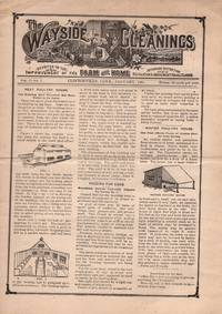 The Wayside Gleanings Devoted to the improvement of the Farm and Home, affording instruction, recreation and amusement for all classes