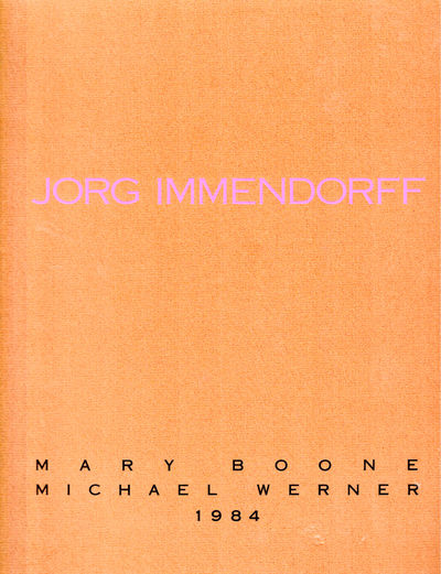 NY: Mary Boone/ Michael Werner, 1984. Paperback. Very good. pp. Page edges tanned, else very good in...