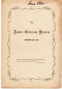 image of TO ANNIE GRISCOM BROWN,  DECEMBER 26th, 1860
