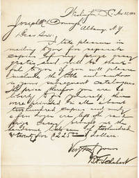 image of AUTOGRAPH LETTER SIGNED by the author of a Georgetown University prize essay on law B.F. SCHUBERT.