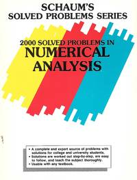 image of Numerical Analysis 2000 Solved Problems