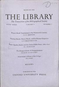 Paper Quality Marks and the Oxford Bible Press, 1682-1717