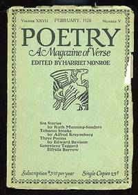 Chicago: Poetry, 1926. Softcover. Fine. Vol. XXVII, no. V. Fine in very good wrappers with some edge...