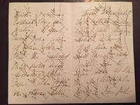 Six examples of Victorian Cross Writing on sheets of paper of varying sizes