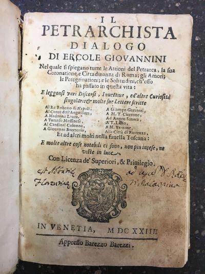 Venetia: appresso Barezzo Barezzi, 1623. Hardcover. Octavo, , 198, , , 109, pages; VG; bound in 17th...