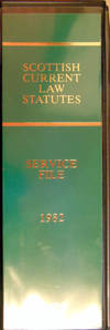 Scottish Current Law Statutes. Service File 1982