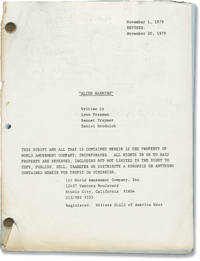 image of Without Warning [Alien Warning] (Original screenplay for the 1980 film, actor Martin Landau's annotated copy)