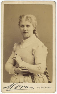 Waist-length carte-de-visite photograph of the noted Swedish soprano as Marguerite in Gounod's Faust