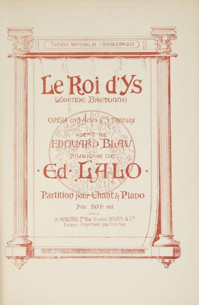Paris: Au Ménestrel, Heugel & Cie. , 1947. Large octavo. Original publisher's dark ivory printed wr...