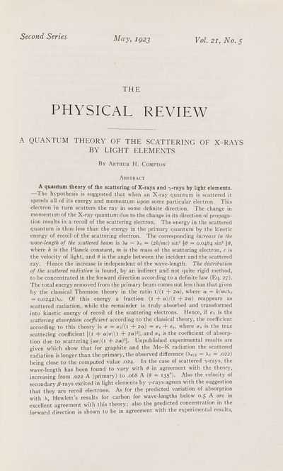 A Quantum Theory of the scattering of...