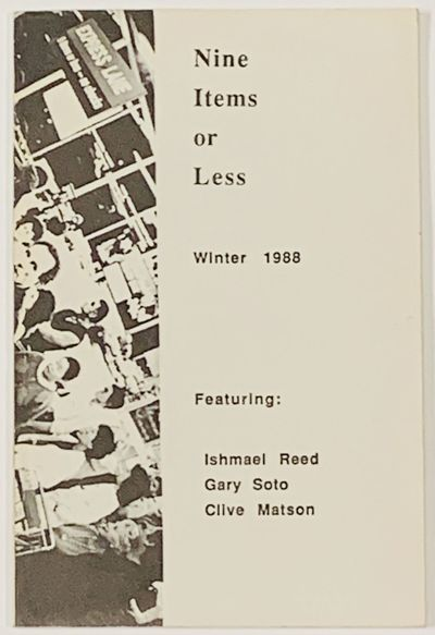 Berkeley: The Berkeley Short Fiction Press, 1988. 1st edition. Printed wrappers. Very Good (light so...