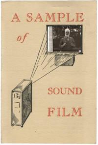 image of A Sample of Sound Film, circa 1928