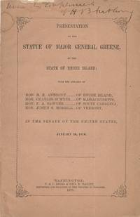 Presentation of the Statue of Major General [Nathanael] Greene, by the State of Rhode Island, in...
