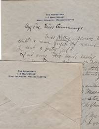 Handwritten letter to Miss Eunice Cummings of Brookline, Homestead 112 Main Street Letterhead, West Newbury Massachussetts ca 1900 with Boston and/or Metropolitan  Museum New York content: General Louis P. di Cesnola, Textile departments, pottery