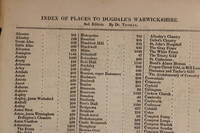 Index of places to Dugdale's Warwickshire. 2nd edition. By Dr Thomas by  Sir Thomas Phillipps - Paperback - 1834 - from Stephen Rench and Biblio.com