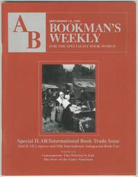 AB: Bookman's Weekly, For the Specialist Book World, September 12, 1994, Vol. 94, No. 11: Special ILAB / International Book Trade Issue